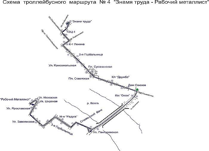 Кострома 8 маршрут схема